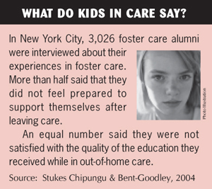 research papers on children in foster care 2 child well-being physical health some research has shown that children in foster care are more likely to have health problems even when compared.
